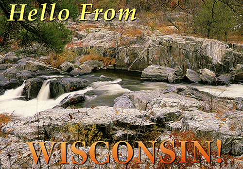 1501 WI Stream Post Card