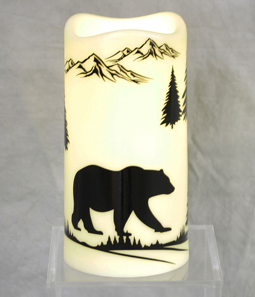 13823 Bear LED Candle