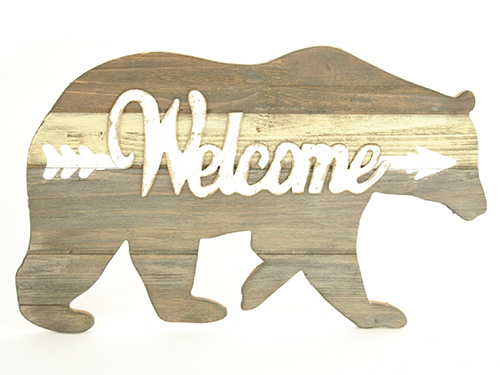 X1547 Bear Welcome Sign