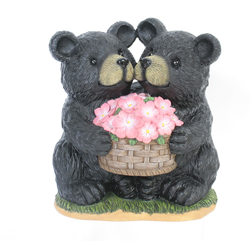 X4102 Bear Couple and Flowers