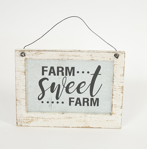 17763 Mtl & Wood Farm Sign