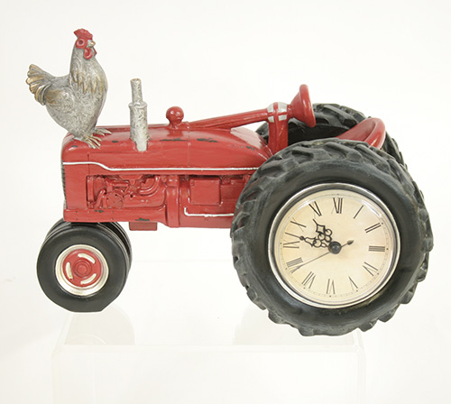 X4252 Red Tractor Clock