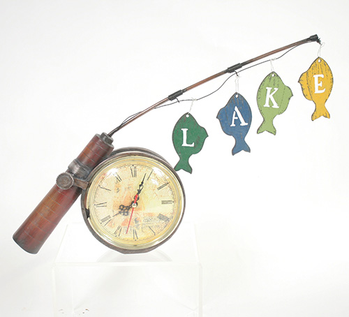 X4254 Fishing Reel Desk Clock