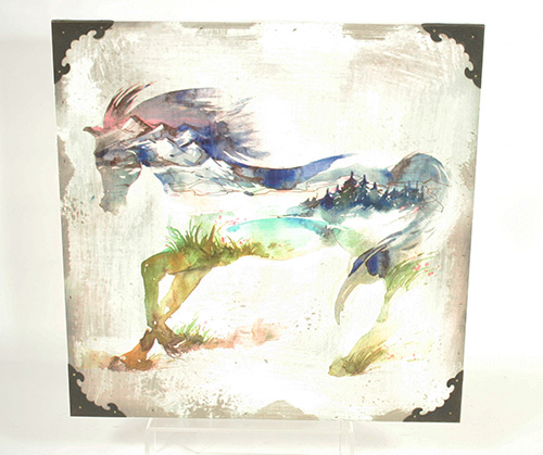 X1545 Colorful Horse Sign