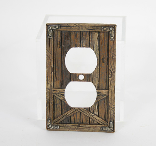 X4976 Barn Door Double Outlet Cover