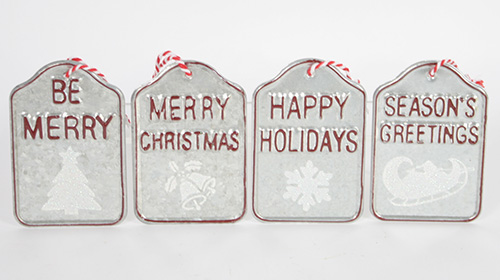 C19122 Tin Tag ornaments