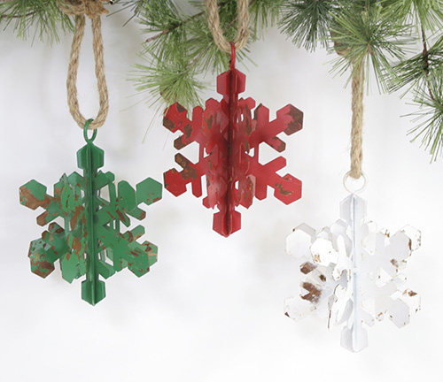 C19928 Metal Snowflake Ornaments