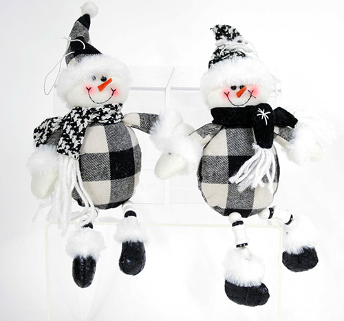 C20776 Plush Snowman Ornaments